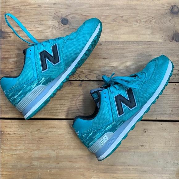 Balance 574 Turquoise Shoes | Poshmark